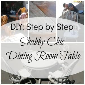 DIY - shabby chic dining room table