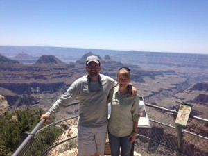J & L at North Rim of Grand Canyon