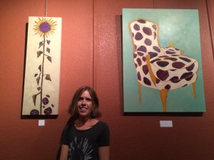 Kelly Janecek at June 3, 2015 Art Walk, Criollo Restaurant