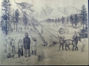 Artistic Rendering of July 4, 1876 Raising of the Centennial Flag