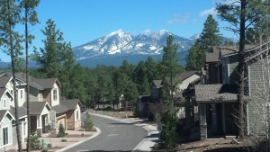 View of the San Francisco Peaks from Pinnacle Pines Luxury Townhome Community