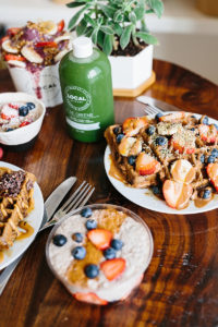 Cold-pressed juice with amazing breakfast and all-day cuisine