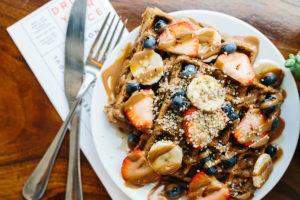 Yummy healthy gluten-free waffles